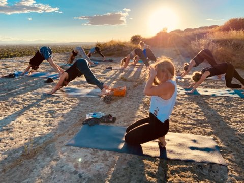 Sunset Yoga at Swords Park